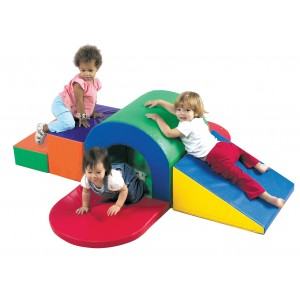 Children's Factory Alpine Tunnel Slide Indoor Playground for Toddlers Active Play Set for Kids (71 x 70 x 20 in)