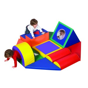 Children's Factory Shape and Play Obstacle Course Indoor Playground for Toddlers Active Play Set for Kids (60 x 60 x 18 in)