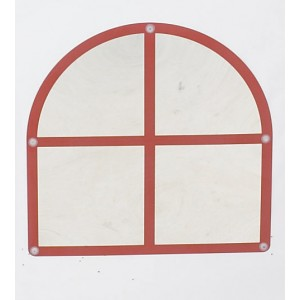 Arched Windowpane Mirror