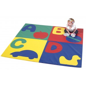 Children's Factory ABC Crawly mat Primary Colors Alphabet Soft Play Mat For Kids (60 x 60 x 1 in)