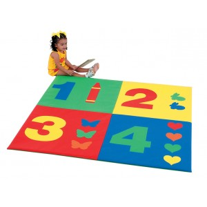 Children's Factory 1-2-3-4 Mat Soft Play Mat for Kids Playroom Decor (	60 x 60 x 1 in)