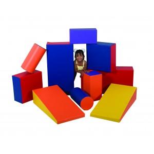 Children's Factory Soft Shapes Set Foam Play Set Foam Blocks Toddler Playset Active Play Set Playroom Décor Play Foam (36 x 18 x 9 in)