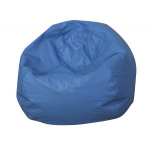 """35"""" Round Bean Bag - Blue"""