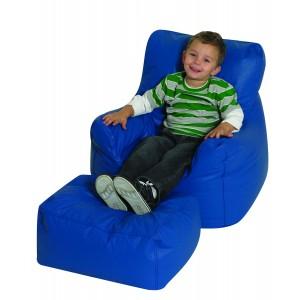 Cozy Chair & Ottoman - Blue