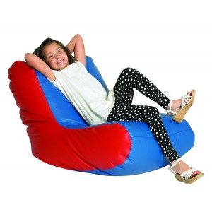 School Age High Back Lounger - Blue & Red