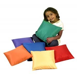 """12"""" Mini Rainbow Throw Pillows - Set of 6"""