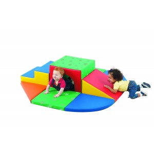 Children's Factory Soft Tunnel Set Indoor Playground for Toddlers Active Play Set for Kids (60 x 60 x 15 in)