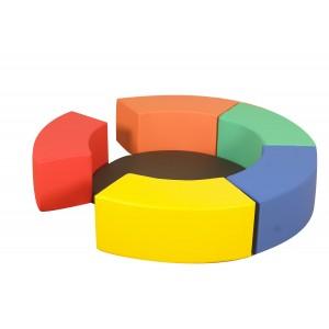 Rainbow Circle Seats - Set of 6 Seats with Mat