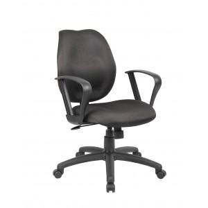 Black Task Chair W/Loop Arms