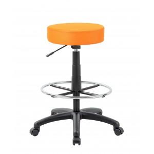 DOT Drafting Stool, Orange