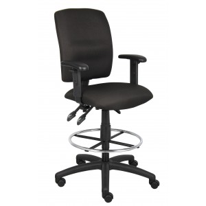 Multi-Function Fabric Drafting Stool W/ Adjustable Arms