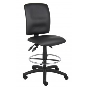 Multi-Function LeatherPlus Drafting Stool