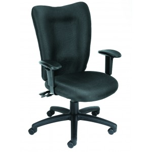 Black Task Chair With 3 Paddle Mechanism W/ Seat Slider