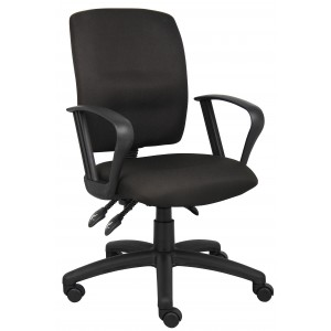 Multi-Function Fabric Task Chair W/Loop Arms
