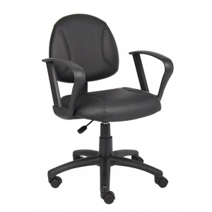 Black Posture Chair W/ Loop Arms