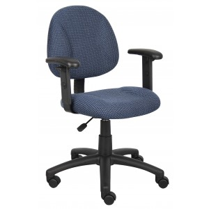 Blue Deluxe Posture Chair W/ Adjustable Arms
