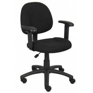 Black Deluxe Posture Chair W/ Adjustable Arms