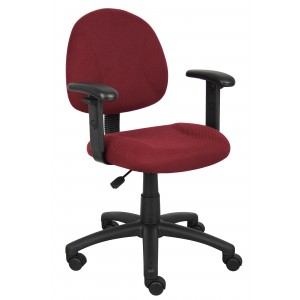 Burgundy Deluxe Posture Chair W/ Adjustable Arms