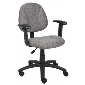 Grey Deluxe Posture Chair W/ Adjustable Arms