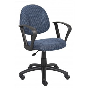 Blue Deluxe Posture Chair W/ Loop Arms