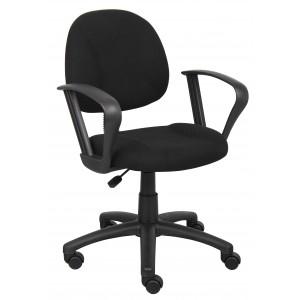 Black Deluxe Posture Chair W/ Loop Arms