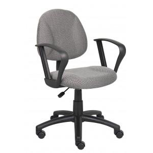 Grey Deluxe Posture Chair W/ Loop Arms