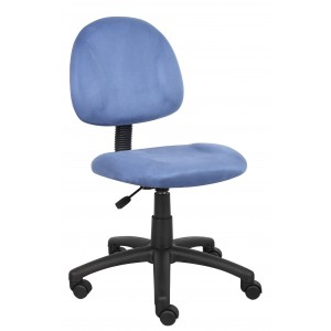 Blue Microfiber Deluxe Posture Chair