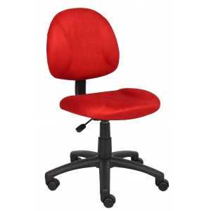 Red Microfiber Deluxe Posture Chair