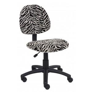Zebra Print Microfiber Deluxe Posture Chair