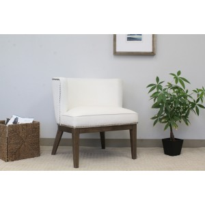 Ava Accent Chair - White