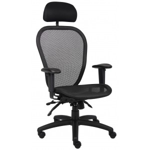 Multi Function Mesh Chair W/ Headrest