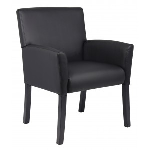 Executive Box Arm Chair W/Mahogany Base