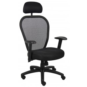Professional Managers Mesh Chair W/ Headrest