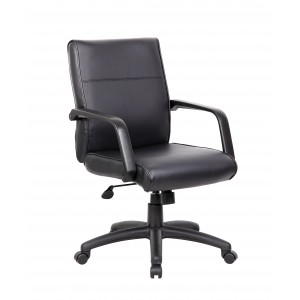 Mid Back Executive Chair In LeatherPlus