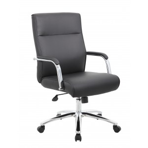 Modern Executive Conference Chair - Black