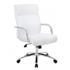 Modern Executive Conference Chair - White