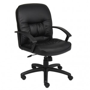 Mid Back LeatherPlus Chair W/ Knee Tilt
