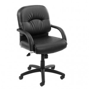 Mid Back Caressoft Chair In Black W/ Knee Tilt