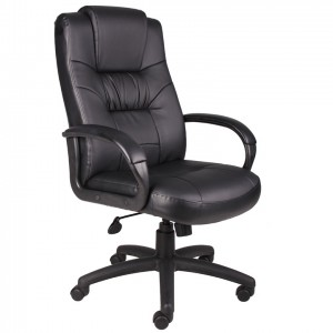Executive High Back LeatherPlus Chair W/Knee Tilt