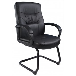 Executive Mid Back LeatherPlus Guest Chair W/ Cantilever Sled Base