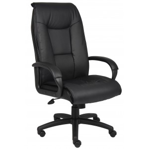 Executive Leather Plus Chair W/Padded Arm