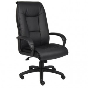 Executive Leather Plus Chair W/Padded Arm & Knee Tilt