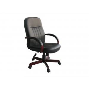 LeatherPlus Exec. Chair W/ Mahogany Finish