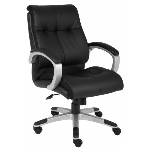 Double Plush Mid Back Executive Chair