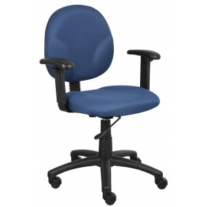 Diamond Task Chair In Blue W/ Adjustable Arms