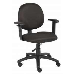 Diamond Task Chair In Black W/ Adjustable Arms