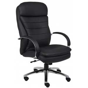 High Back CaressoftPlus Exec. Chair W/ Chrome Base