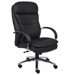 High Back CaressoftPlus Exec. Chair W/ Chrome Base & Knee Tilt