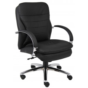 Mid Back CaressoftPlus Exec. Chair W/ Chrome Base