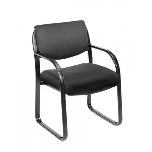 Black Fabric Guest Chair